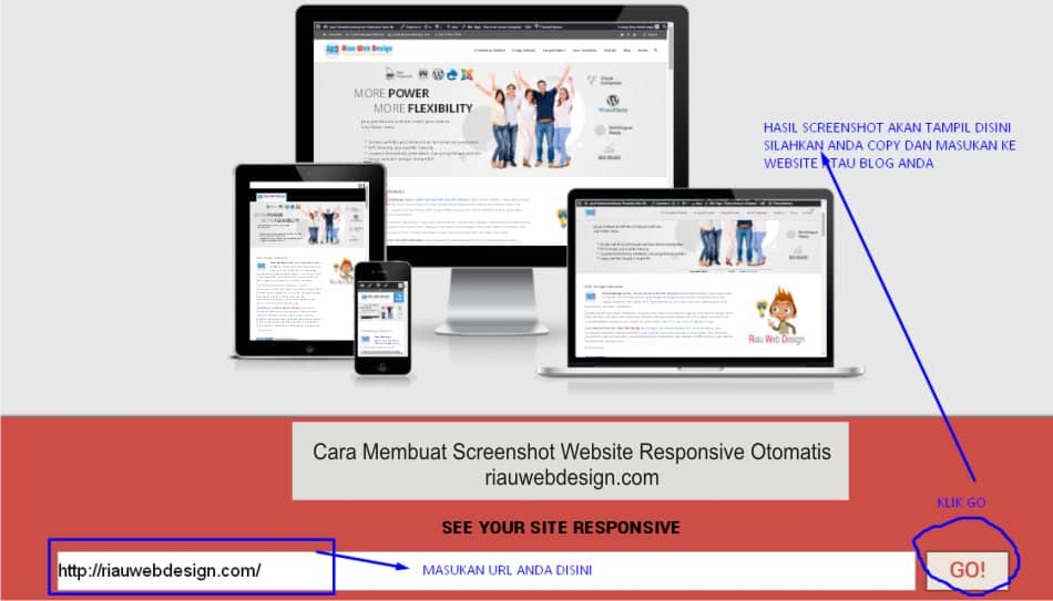 cara Membuat Screenshot Website Responsive