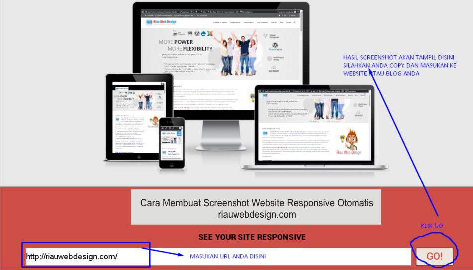 cara Membuat Screenshot Website Responsive Otomatis